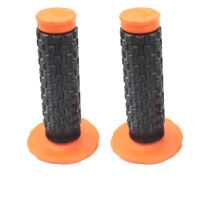 "22mm 7/8"" Soft Hand Grips Orange For Go Kart Scooter Motorcycle Pit Dirt Bike"