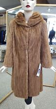 "Natural Pastel Mink Fur 39"" Coat - Size 12"