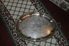 Antique Rogers Silver Co. Very large Silver On Copper Serving Platter Tray-1883