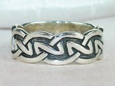 Sterling Silver .925 Infinity Knot Band Celtic Ring-Size 10.5