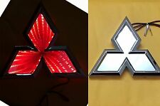 3D LED Car Tail Logo Red Light for Mitsubishi Outland Lancer Auto Badge Light