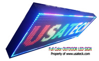 """LED Sign 13 """"x 37 """"  METAL OUTDOOR FULL COLOR / WIFI Programmable (Made in USA)"""