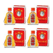 Siang Pure Red Oil Formula 1 Relieve Dizziness Pain Massage Insect Bite 4 x 3cc