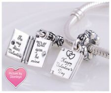 Genuine Pandora Happy Valentines Day Card 'Be Mine' Charm 🌷 Free Gift Pouch 🌷