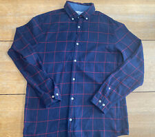 PENGUIN MENS CHECKED SHIRT BLUE SIZE MED