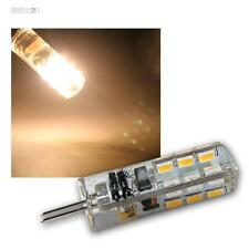 5 x LED-Leuchtmittel G4, 24 SMD LEDs 100lm warmweiß Stiftsockel-Lampe 12V Birne