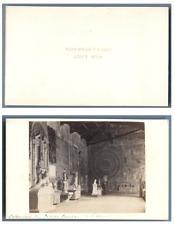 Van Lint, Italie, Pise Le Camposanto Monumentale Intérieur  CDV vintage albumen,