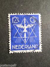 PAYS-BAS NEDERLAND, 1933, timbre 253, PAIX MONDIALE, oblitéré, VF STAMP