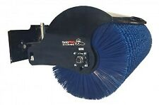 "72"" Manual Angle Broom Skid Steer Attachment Bobcat John Deere Kubota Gehl"