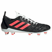 adidas Malice SG Soft Ground Mens Rugby Union Boot Shoe Black/Pink