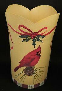 LENOX WINTER GREETINGS (TOLEWARE) CARDINAL METAL WINE COOLER