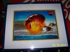 Coca Cola SUMMER SUN Set Coke ART Signed CEL 104/200 LTD Print Frame Certificate