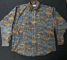 Ruff Hewn Mens Shirt True American Wear Country Western Duck Hunting Shirt Large
