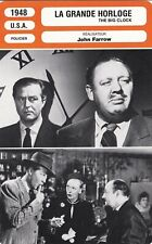 Fiche Cinéma - JOHN FARROW - GRANDE HORLOGE (LA) - 1948