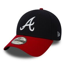 NEW Era Da Uomo 9 QUARANTA Berretto da baseball. la lega MLB Atlanta Braves Navy Red Hat 8W2