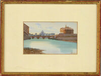G. Monty - Signed & Framed Early 20th Century Watercolour, Continental Cityscape