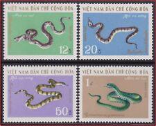 VIETNAM NORD N°693/696** Serpents, 1970 North Vietnam 613-616 Snakes MNH
