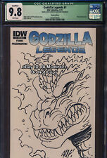 2011 CGC 9.8 Godzilla Legends 1 Blank Cover Original Sketch Variant Signed Movie