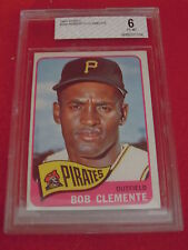 1965 Roberto Clemente BVG Beckett Graded Topps Baseball Card 6 EX-MT