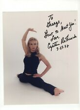 "CYNTHIA ROTHROCK Autographed 8""x10"" Color Inscribed Signed Photograph."
