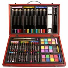 Nicole Studio Art & Craft Supplies Set in Wood Box for Drawing and Painting, 79