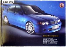 MG ZS - Original Car Owners Handbook - JUL 2001 - # RCL 0431EN. 2nd Ed.