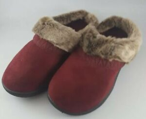 Isotoner Women's Memory Foam Faux Fur Slip-On Slipper XL 9.5-10