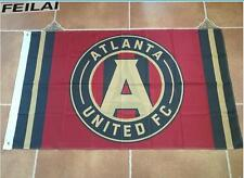 Atlanta United FC Wincraft Red Black Indoor Outdoor Deluxe Flag