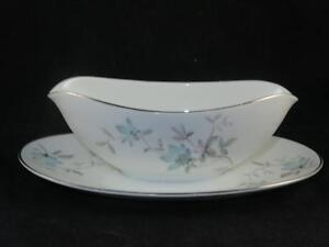 Fine China GRAVY BOAT NORITAKE JAPAN Lorene Pattern 5764 Platinum Gilding