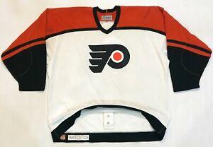 Vintage Maska Authentic Philadelphia Flyers NHL Hockey Jersey Sz 52 Canada CCM