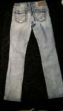 SILVER AIKO womans supperstress cut-up jeans 5 pocket straightleg wash-off color