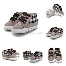 UK Infant Toddler Sneakers Kids Baby Boys Soft Sole Crib Shoes to 0-18 Months