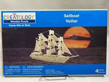 Creatology Sailboat Voilier Wooden Puzzle Woodcraft Boat 3D Wood puzzle NEW