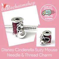 Authentic PANDORA Disney Cinderella Suzy Mouse Needle & Thread Charm - 799200C01