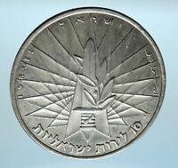 1967 ISRAEL IDF 6 Day War Victory Wailing Wall Jerusalem Silver 10L Coin i77935