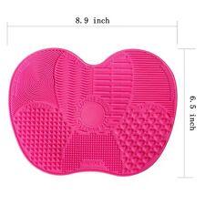 Pinkzio Silicon Makeup Brush Cleaning Mat Makeup Brush Cleaner, Dark Pink