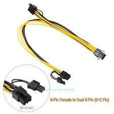 PCI-E 6-pin auf Dual 2x 8 pin(6pin+2pin) Y Stromkabel Adapter PCIE PCI Express