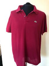 MENS LACOSTE  POLO SHIRT SIZE 6 USED