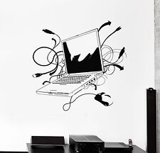 Wall Decal Laptop Computer Online Internet Gamer IT Vinyl Stickers (ig2776)