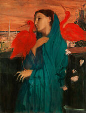 Young Woman with Ibis by Edgar Degas A2 High Quality Canvas Print
