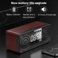 A10 Speaker Wooden LED Display Bluetooth 5.0 Loudspeaker Support FM USB AUX TF