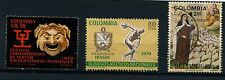 Colombia 3 used   1 Aereo stamps 1970's