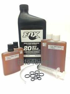 Fox 20wt Gold fork oil for 32 34 36 40 Crush Washer Foam Rings Syringe