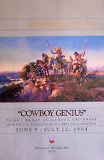 "Cowboy Genius by Charles M. Russell - 20"" X 32"" Western Art Print"