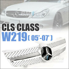 MERCEDES BENZ FRONT GRILLE FOR CLS CLASS W219 2005-2007 CLS350 CLS500 AMG SILVER