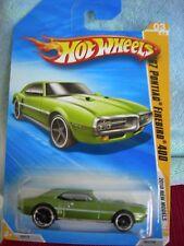 Hot Wheels '67 Pontiac Firebird 400 2010 New Models Green