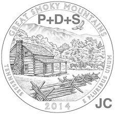 2014 P&D&S Great Smoky Mountains National PARK QUARTERS 3 Coin SET Smokey Mt.P87