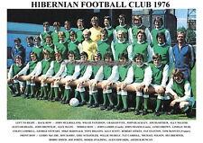 HIBERNIAN F.C.TEAM PRINT 1976 (HIBS)