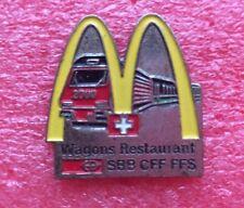 Pins MAC DONALD'S Mc Do SUISSE Train WAGON RESTAURANT SBB CFF FFS