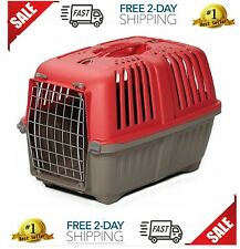 Pet Cat Puppy Carrier Travel Cage Crate Portable Small Dog Kennel red 19 Inch